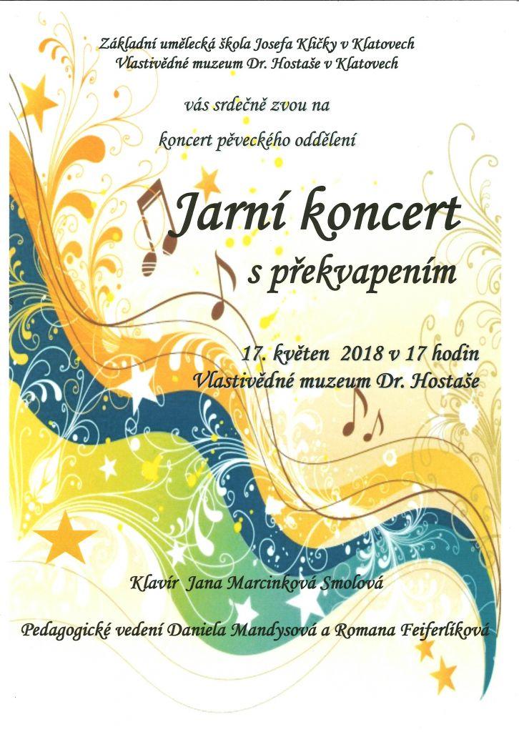 Jarní koncert s překvapením 17.5.2018